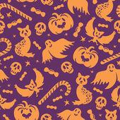 ハロウィーンのシームレスなパターン — ストックベクタ