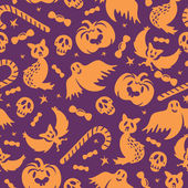 Halloween bezešvé vzor — Stock vektor