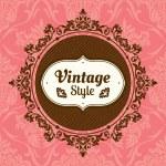 Vintage floral frame — Vecteur #31135917