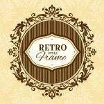cornice floreale vintage — Vettoriale Stock  #31135963