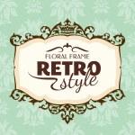 cornice floreale vintage — Vettoriale Stock