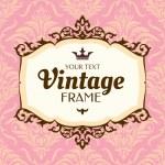 cadre floral Vintage — Vecteur