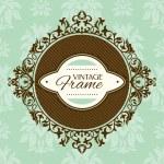 Vintage floral frame — ストックベクタ #31136093