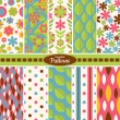 Collection of seamless pattern backgrounds — Stock Vector #31819799