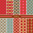 Collection of seamless pattern backgrounds — Stockvektor