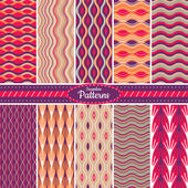 Collection of seamless pattern backgrounds — Stock Vector