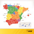 Map of Spain — Stock Vector #49734215