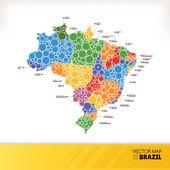 Map of Brazil — Stock Vector