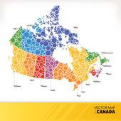 Mapa kanady — Stock vektor