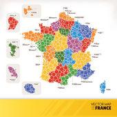 Mapa francji — Wektor stockowy