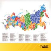 Karta över ryssland — Stockvektor
