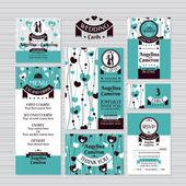 Set di carte di nozze — Vettoriale Stock