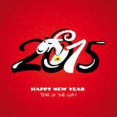 Chinese new year card with goat — Stockvector