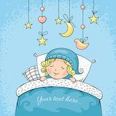 Adorable sleeping child — Stock Vector