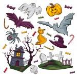 Set of Halloween icons — Stock Vector #6607875