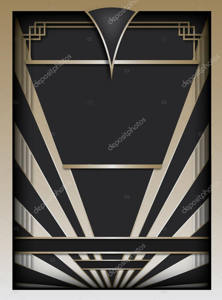 Art deco background and frame stock vector for Deco graphic