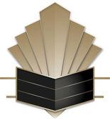 Art Deco Stye Badge — Stock Vector