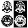 Vintage Style Vector Labels Collection — Stock Vector