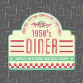 1950s Diner Style Logo Design — Stock Vector