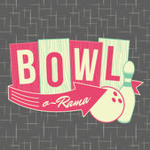 1950s Bowling Style Logo Design — Stock Vector