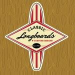 Classic Surf Logo Design — Stock Vector