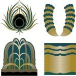 Art Deco Logos and Design Elements — Stock Vector
