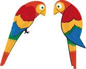 Tropical Parrots — Stock Vector