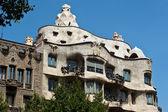 Casa Mila in Barcelona, Spain. Designed by Antoni Gaudi. — Stock Photo