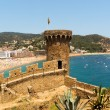 Panorama of Costa Brava, Tossa de Mar city, Spain — Stock Photo