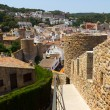 The Fortress of Tossa de Mar, Catalunia, Costa Brava, Spain - Stock Photo