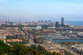 View of Barcelona from Montjuic — Stock Photo