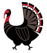 Mythological image Turkey, vector icon — Stock Vector