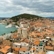 Split view from the bell tower of colloquially Saint Duje — Stock Photo