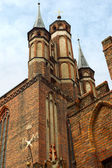 The historic Church of the Blessed Virgin Mary in the old city Torun in Poland — Stockfoto