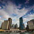 Skyscrapers Sydney business center. View of port Jackson. — Stock Photo