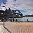 Quay The Rocks. View of the Sydney Harbour Bridge Harbour Bridge — Стоковая фотография