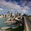 Stock Photo: View of the business center of Sydney with the Harbour Bridge. A