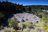 Mud pool. Whakarewarewa Geothermal Reserve. New Zealand. — Foto de Stock