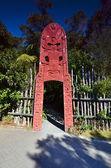 Maori crafts people. New Zealand. Woodcarving. — Stock Photo