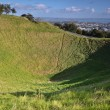 Stock Photo: Mount Eden Mount. Oakland. New Zealand.