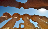 Karnak temple. The column. Egypt. — Stock Photo
