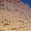 Hieroglyphics on the walls of Karnak Temple. Lyuksor.Egipet. — Stock Photo