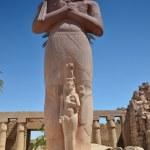 Statue of Ramses II in Karnak temple, Luxor, Egypt — Stock Photo