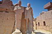 Karnak Temple. Statues. Lyuksor.Egipet. — Stock Photo
