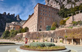 The architecture. Montserrat monastery (monastery of Montserrat) — Stock Photo