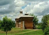 Moscou. igreja de madeira no parque kolomenskoye reserva de território — Foto Stock