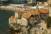 The city of Budva in Montenegro on the bank of the Adriatic Sea — Stock Photo