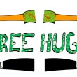 Free hugs — Stock Vector