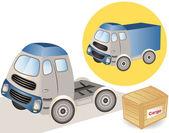 Big truck van — Stockvector