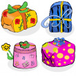 Collection of gifts — Stock Vector #13596741